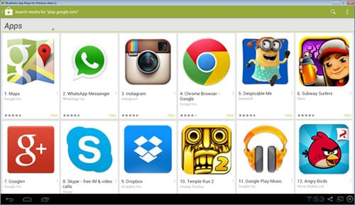 Google Play en Bluestacks