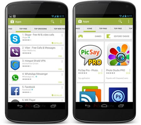 Play Store para móvil