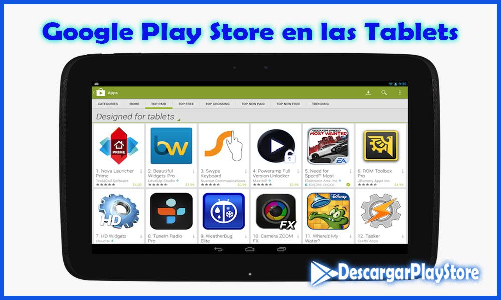 Google play para tablets