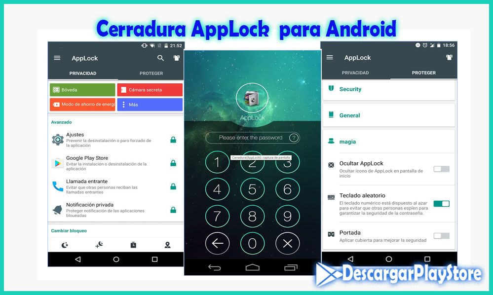 Cerradura AppLock para Android en este 2017